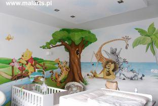 Katowice - malowany pokój jak z bajki